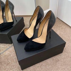 L.A.M.B. Black Stiletto D'Orsay High Heels Size 7